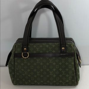 Auth Louis Vuitton Josephine Monogram Canvas Bag